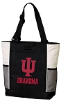 Indiana University Grandma Tote Bag White Accents