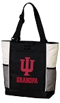 Indiana University Grandpa Tote Bag White Accents