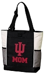 Indiana University Mom Tote Bag White Accents