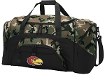Official University of Kansas Camo Duffel Bags