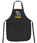 Official University of Kansas Grandma Apron Black