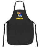 Official University of Kansas Grandpa Apron Black