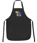 Official University of Kansas Apron Black