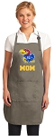 Official KU Mom Apron Tan