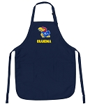 Official University of Kansas Grandma Aprons Navy