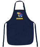 Official University of Kansas Grandpa Aprons Navy