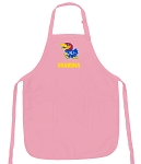 Deluxe University of Kansas Grandma Apron Pink - MADE in the USA!