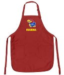 Deluxe KU Grandma Apron University of Kansas Grandma for Men or Women