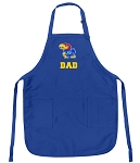 Deluxe KU Dad Apron University of Kansas Dad for Men or Women