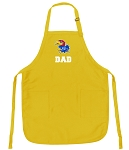 Deluxe University of Kansas Dad Apron - MADE in the USA!