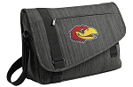 University of Kansas Messenger Laptop Bag Stylish Charcoal