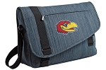 University of Kansas Messenger Laptop Bag Stylish Navy
