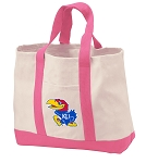 University of Kansas Tote Bags Pink
