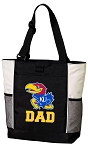 University of Kansas Dad Tote Bag White Accents