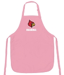 Deluxe University of Louisville Grandma Apron Pink - MADE in the USA!