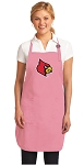 Deluxe University of Louisville Apron Pink - MADE in the USA!