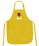 Deluxe University of Louisville Dad Apron - MADE in the USA!