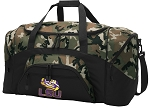 Official LSU Tigers Camo Duffel Bags