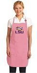 Deluxe LSU Apron Pink - MADE in the USA!