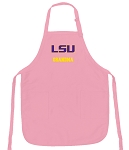 Deluxe LSU Tigers Grandma Apron Pink - MADE in the USA!