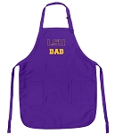 Deluxe LSU Tigers Dad Apron MADE in the USA!