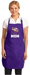 LSU Mom Apron Purple - MADE in the USA!