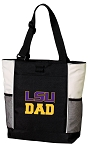 LSU Tigers Dad Tote Bag White Accents