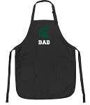 Official Michigan State Dad Apron Black