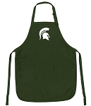 Official Michigan State Apron Michigan State Logo