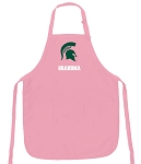 Deluxe Michigan State Grandma Apron Pink - MADE in the USA!