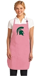Deluxe Michigan State Apron Pink - MADE in the USA!