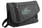 Michigan State Peace Frog Messenger Laptop Bag Stylish Charcoal