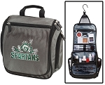 Michigan State Peace Frogs Toiletry Bag or Michigan State Shaving Kit Organizer for Him Gray