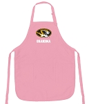 Deluxe University of Missouri Grandma Apron Pink - MADE in the USA!