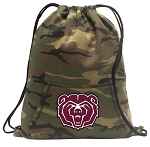 Missouri State Drawstring Backpack Green Camo