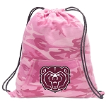 Missouri State Drawstring Backpack Pink Camo