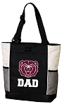 Missouri State University Dad Tote Bag White Accents