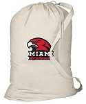 Miami University Redhawks Laundry Bag Natural
