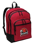 Miami University Backpack CLASSIC STYLE Red