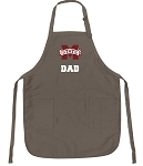Official MSU Bulldogs Dad Apron Tan
