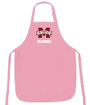 Deluxe Mississippi State Grandma Apron Pink - MADE in the USA!