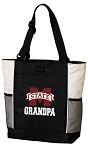 Mississippi State Grandpa Tote Bag White Accents