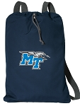 Middle Tennessee Drawstring Bag SOFT COTTON Middle Tennessee Backpacks Navy