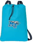 Middle Tennessee Drawstring Bag SOFT COTTON Middle Tennessee Backpacks Aqua