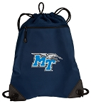 Middle Tennessee Drawstring Backpack-MESH & MICROFIBER Navy