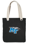 Middle Tennessee Tote Bag RICH COTTON CANVAS Black