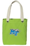 Middle Tennessee Tote Bag RICH COTTON CANVAS Green
