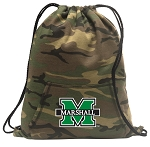 Marshall University Drawstring Backpack Green Camo