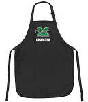 Official Marshall University Grandpa Apron Black