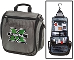 Marshall Toiletry Bag or Marshall University Shaving Kit Organizer for Him Gray